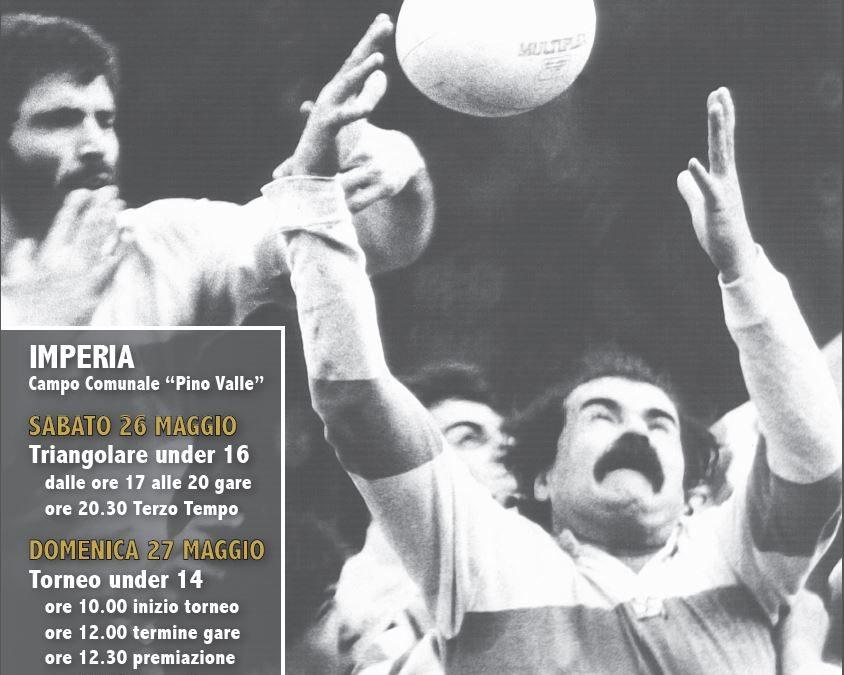 """Il rugby in Provincia di Imperia chiude la stagione con il torneo """"Carletto Oddone""""."""