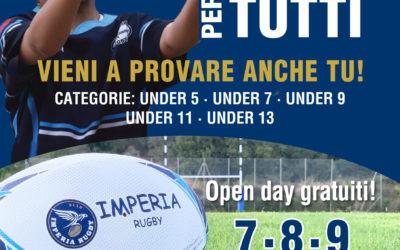 Open Days per Imperia Rugby. L'ovale ritorna