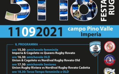 Grande pomeriggio di rugby al Pino Valle di Imperia nel ricordo di Carletto Oddone.